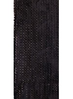 Payetli Siyah Kürk Kumaş - K9299