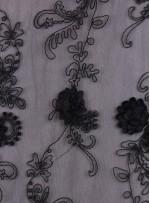 Eteği Sulu Üç Boyutlu Payetli Lase Kumaş - K9305C
