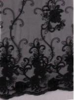 Eteği Sulu Üç Boyutlu Payetli Lase Kumaş - K9305D
