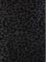 Floklu Payet Kumaş - Siyah - K9306