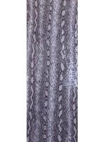 Yılan Desenli En-Boy Likralı Şeffaf Payetli Jarse Kumaş - Gri - K9312