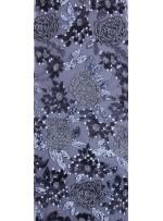 Çiçek Desenli 3 MM ve 5 MM Payetli Siyah-Antrasit c19 Kumaş - K9365