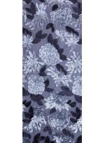 Çiçek Desenli 3 MM ve 5 MM Payetli Siyah-Gümüş c9 Kumaş - K9365