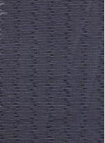 Tül Üzeri 3 MM Deri Payet İşlemeli Siyah Kumaş - K9382