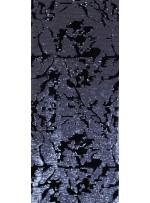 Kadife Üzeri Desenli Antrasit Payetli Kumaş - K9391