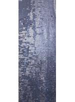 Jarse Üzeri Akış Desenli Gümüş Payet - K9396