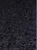 Jarse Üzeri Siyah Armut Payetli Kumaş - K9398