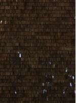 Kahverengi Çubuk Payetli Abiyelik Kumaş - K9399