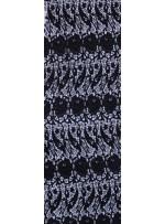 Koton İçerikli Çiçek Desenli Siyah Güpür Kumaş - K9404