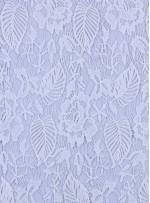 Koton İçerikli Çiçek Desenli Beyaz Güpür Kumaş - K9405