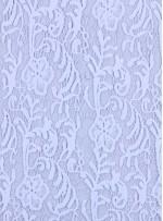 Çiçek Desenli Koton İçerik Beyaz Güpür Kumaş - K9406