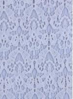 Dilim Desenli Kemik Güpür Kumaş - K9407