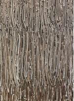 Karışık Desenli Abiyelik Bakır Payetli Kumaş - K9412