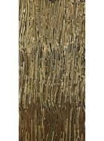 Karışık Desenli Abiyelik Gold Payetli Kumaş - K9412