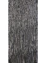 Karışık Desenli Abiyelik Gümüş Payetli Kumaş - K9412