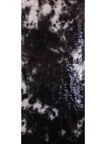 Jarse Üzeri Baskılı Siyah Beyaz Payetli Kumaş - K9419