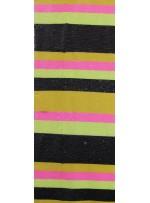 Tül Üzeri Şerit Desenli Neon Renkli Payet Kumaş (60 CM Uzunluk) - K9438