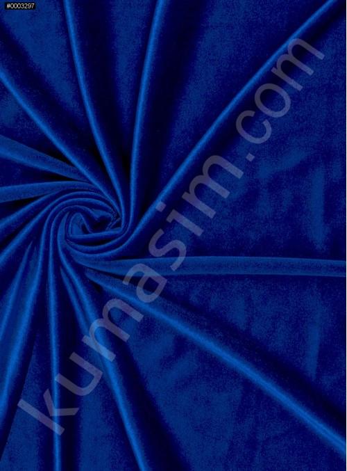 Elbiselik Desensiz - Düz Kışlık Saks Kadife Kumaş - K9452