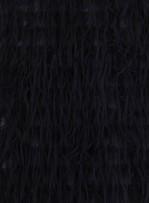 Şifon Üzeri Saçaklı Siyah Kumaş - K9471