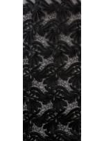 Tül Üzeri Çiçek Desenli Siyah Deri Payetli Kumaş - K9475