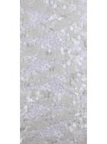 Dantel Üzeri Büyük Payetli Mat Kemik Kumaş - K9476