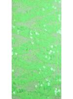 Dantel Üzeri Büyük Payetli Yeşil Kumaş - K9476