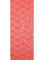 Dantel Üzeri Dalge Desenli Payetli Kumaş - Açık Turuncu c7 - K9477