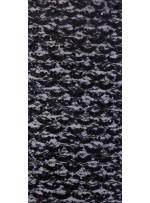 Dantel Üzeri Dalge Desenli Payetli Kumaş - Siyah c10 - K9477