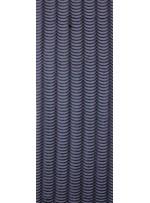Tül Üzeri Dalga Desenli Siyah Deri Payetli Kumaş - K9478
