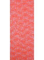 Dantel Üzeri Kare Desenli Açık Oranj Payetli Kumaş - K9479