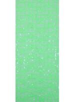 Dantel Üzeri Kare Desenli Fıstık Yeşili Payetli Kumaş - K9479