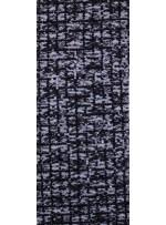 Dantel Üzeri Kare Desenli Siyah Payetli Kumaş - K9479