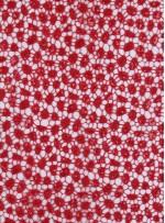 Etek Uçları Sulu Payetli Kırmızı File Kumaş - K9492