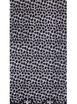 Etek Uçları Sulu Payetli Mat Siyah File Kumaş - K9492