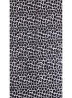 Etek Uçları Sulu Payetli Siyah File Kumaş - K9492