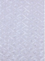 Baklava Desenli Deri Payetli Kemik Kumaş - K9497