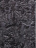 File Üzeri Karışık Desenli Siyah Payetli Kumaş - K9498