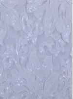 Büyük Çiçek Desenli Payetli Kemik Kumaş - K9504