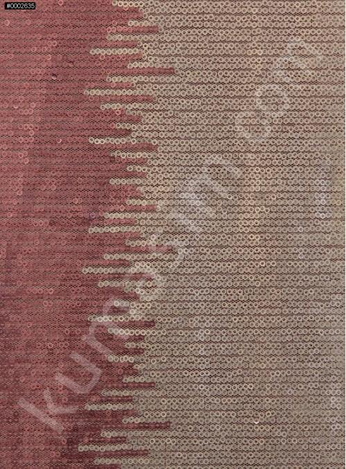 Degrade Geçişli 3 mm Sıvama Kırmızı ve Krem Kumaş - K9524