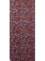 File Üzeri Yaprak Desenli Çok Renkli Payet Kumaş - K9525