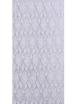 Çiçek Desenli Beyaz Abiyelik Güpür Kumaş - K9543