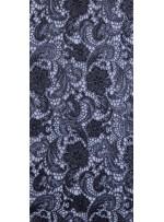 Gümüş Varaklı Gül Desenli Abiyelik Güpür Kumaş - K9545