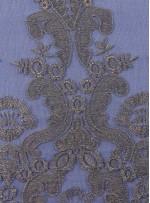 Osmanlı Desenli Lacivert Abiyelik Kumaş - K9551