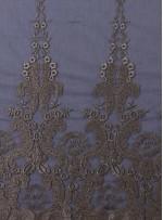 Osmanlı Desenli Siyah Gold Abiyelik Kumaş - K9551
