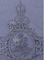 Osmanlı Desenli Siyah Gümüş Abiyelik Kumaş - K9552