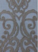 Osmanlı Desenli Siyah Yeşil Gold Abiyelik Kumaş - K9553