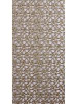 Zırh Görünümlü Gold Abiyelik File Kumaş - K9554