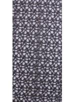 Zırh Görünümlü Gümüş Abiyelik File Kumaş - K9554