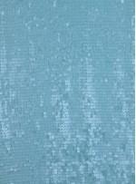 Altıgen Desenli Mint Payetli Abiyelik Kumaş - K9557