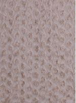 Gül Desenli Üç Boyutlu Krem Abiyelik Lase Kumaş - K9560